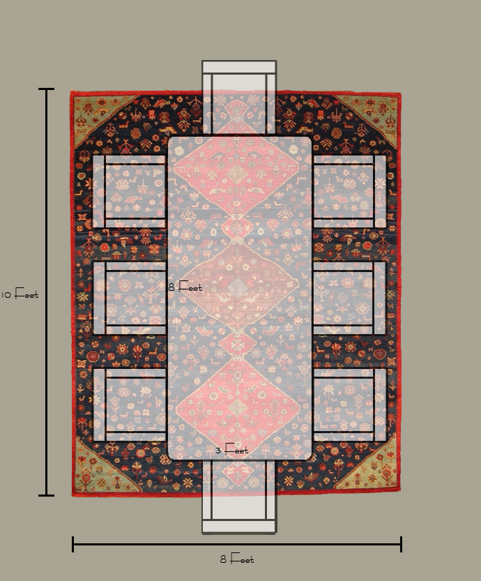 what is the right size rug for a dining room?